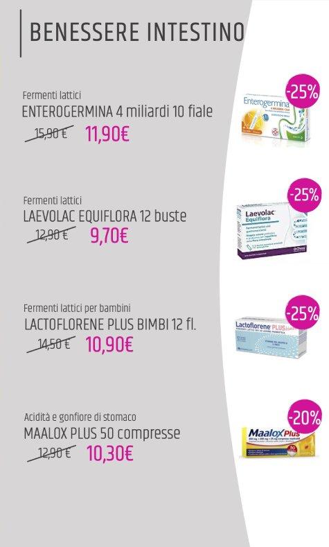 benessere intestino: offerte farmacia aprile 2020