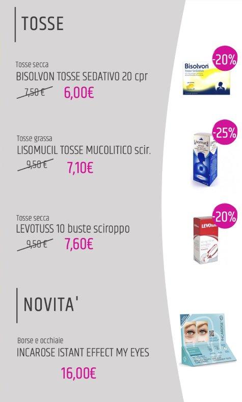 tosse: offerte farmacia aprile 2020
