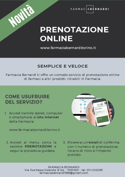 prenotazione farmaci online